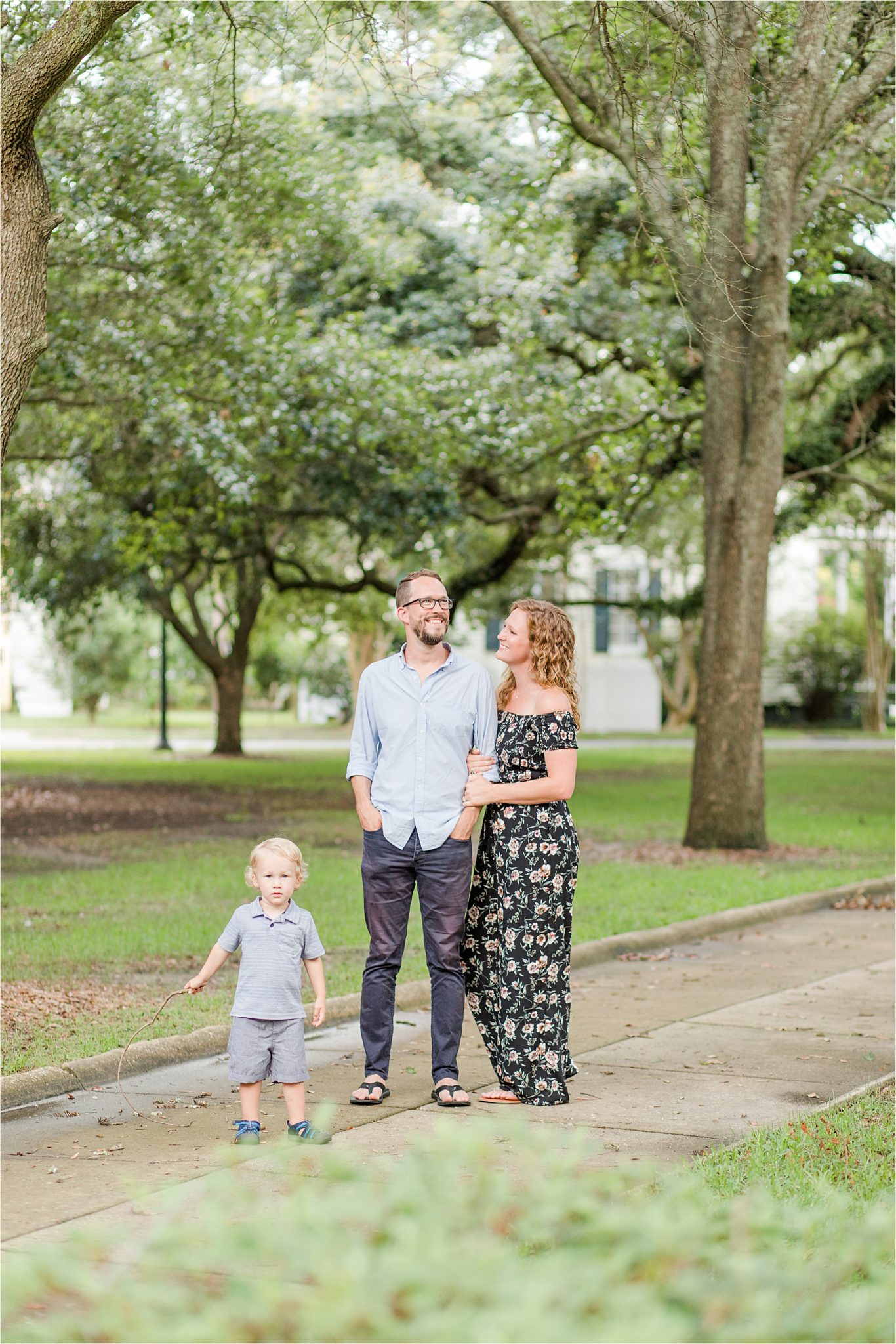family of three-family photographer-Alabama portrait photographer
