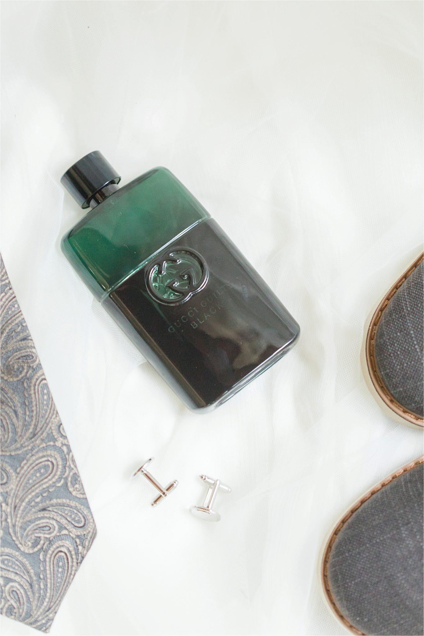Paisley tie-groom details-gucci guilty black-cologne-bottle