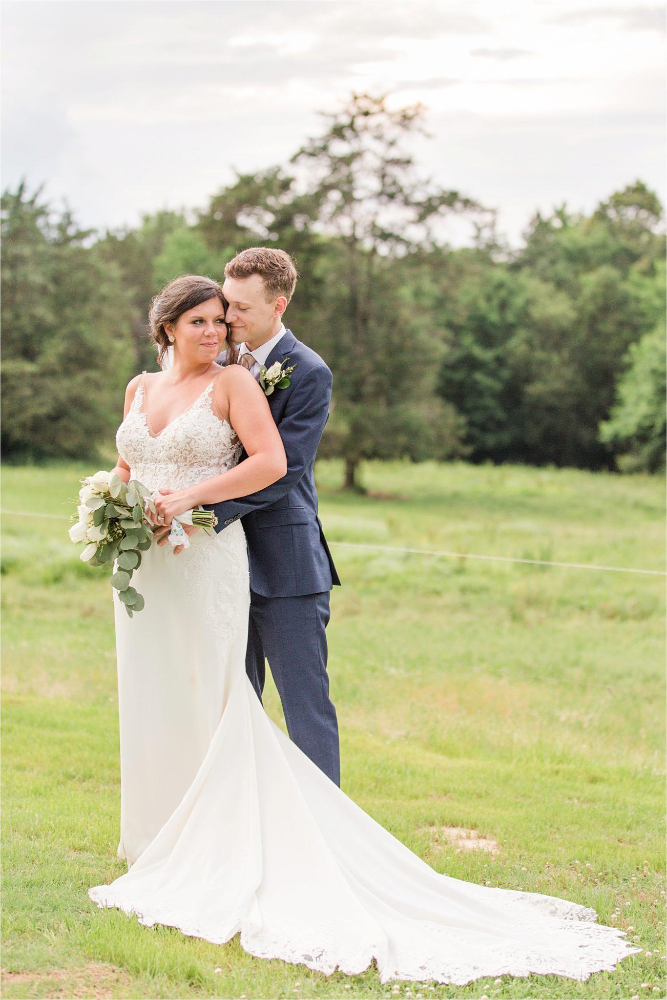 Hedge Farm Wedding, Alabama Wedding Photographer, Barn Wedding, navy and neutral themed wedding, bride and groom