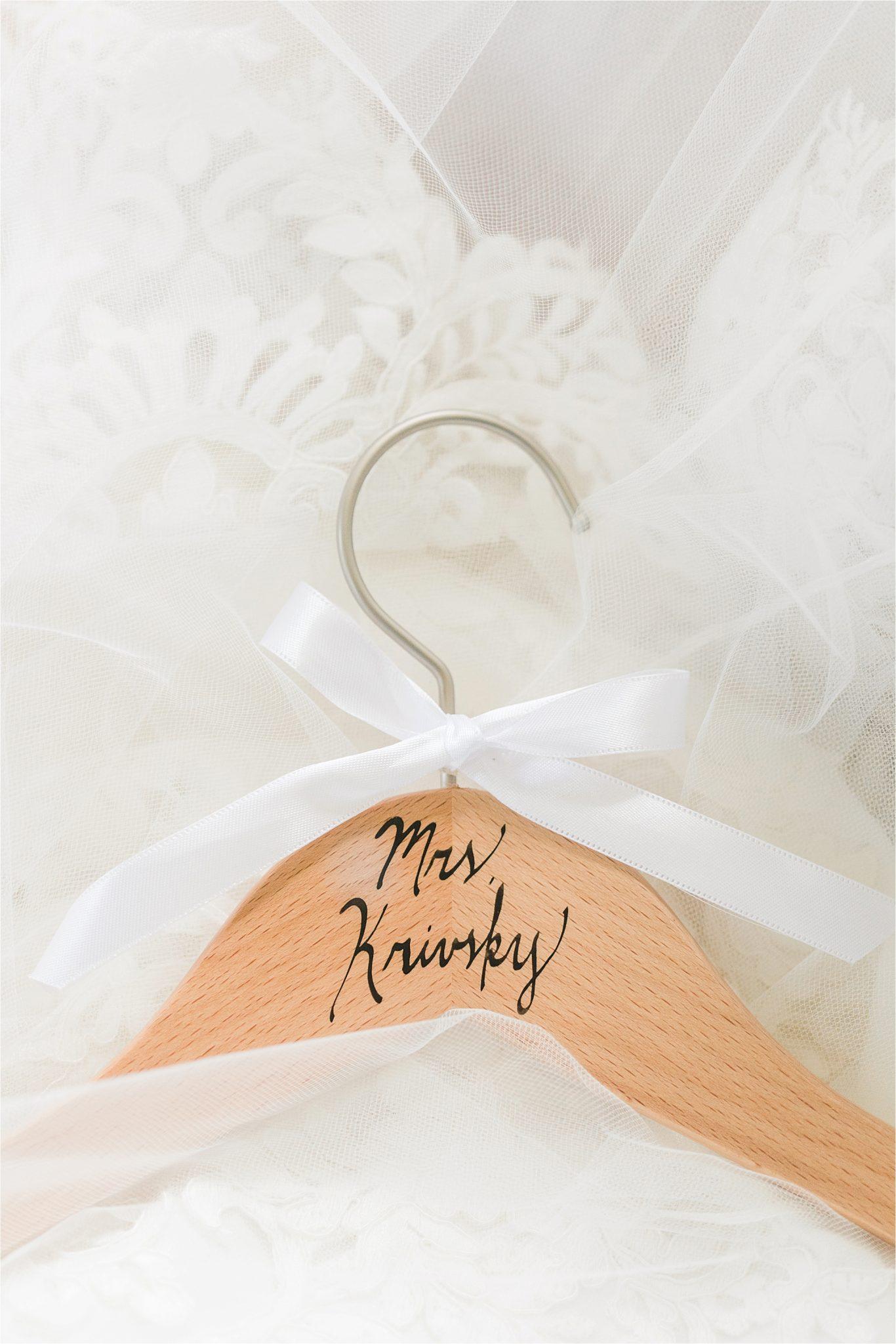Hedge Farm Wedding | Alabama Wedding Photographer | Barn Wedding | Details | Wedding Dress Hanger