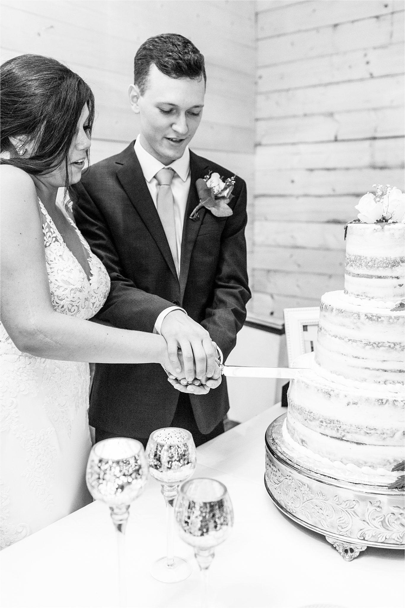 Mississippi wedding photographer | Hedge Farm Wedding | Alabama Wedding Photographer | Wedding Cake