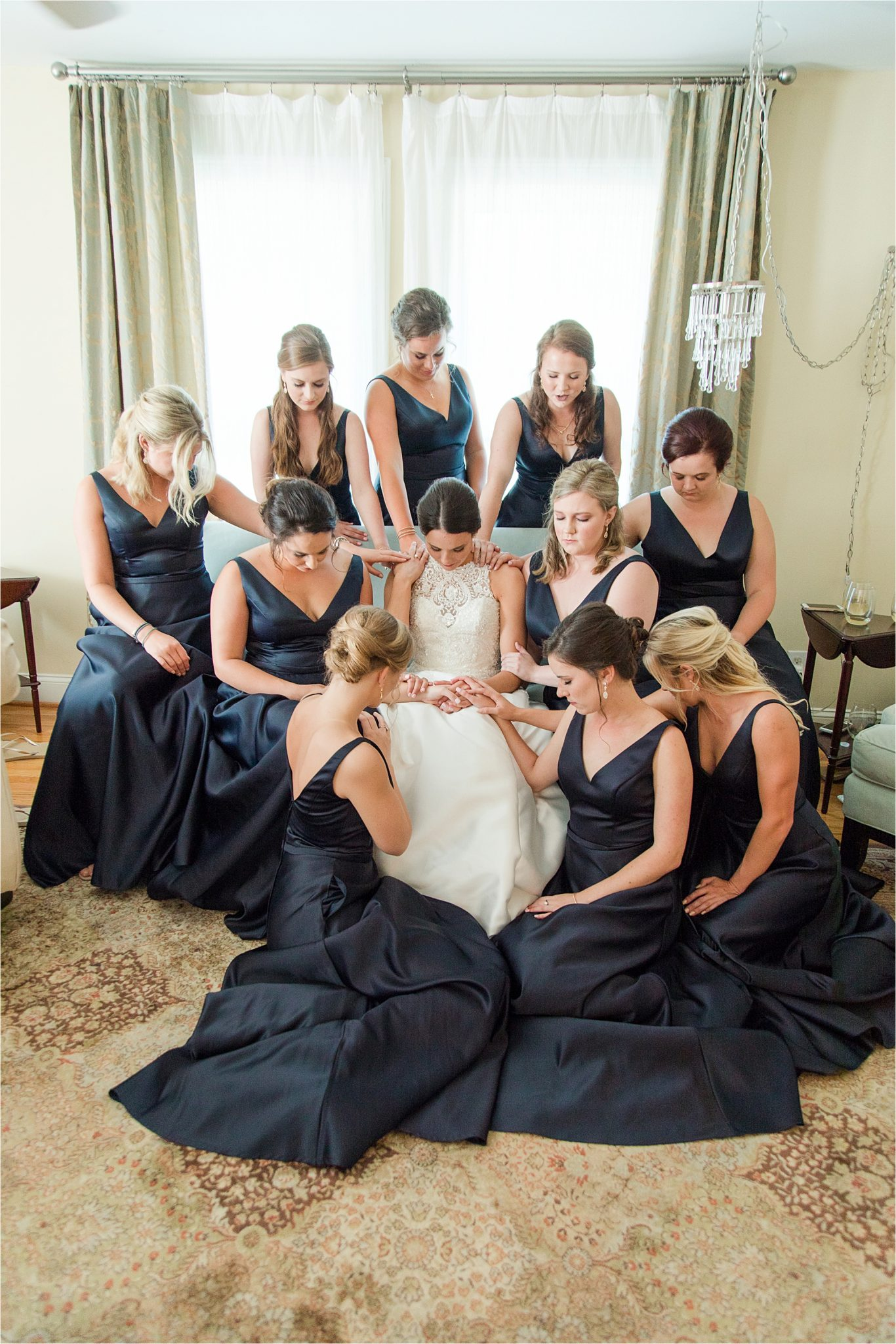 Sonnet House, Birmingham Alabama Wedding Photographer, Bridal portrait, Bride and bridesmaids