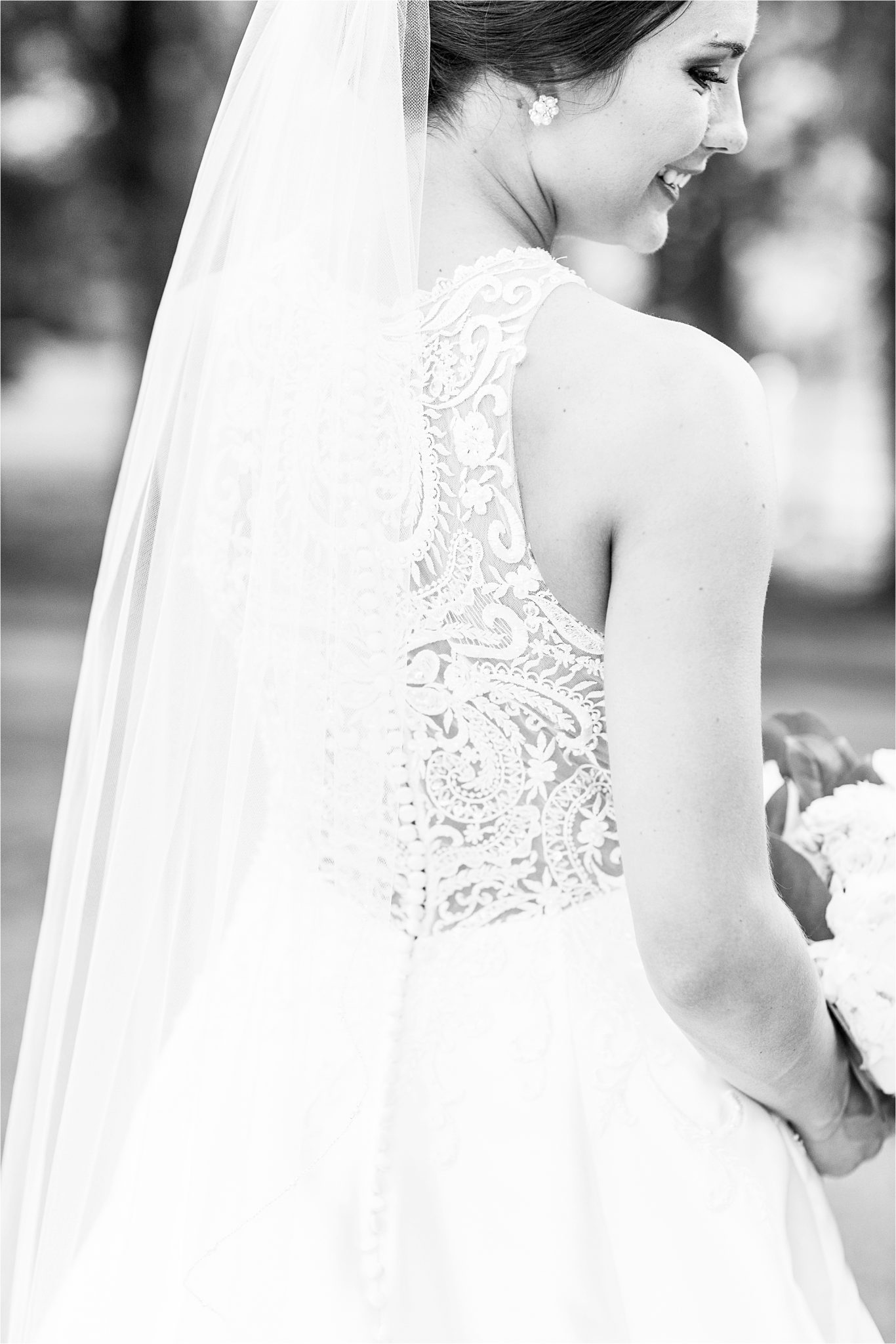 Sonnet House, Birmingham Alabama Wedding Photographer, Wedding dress details, Bridal portrait