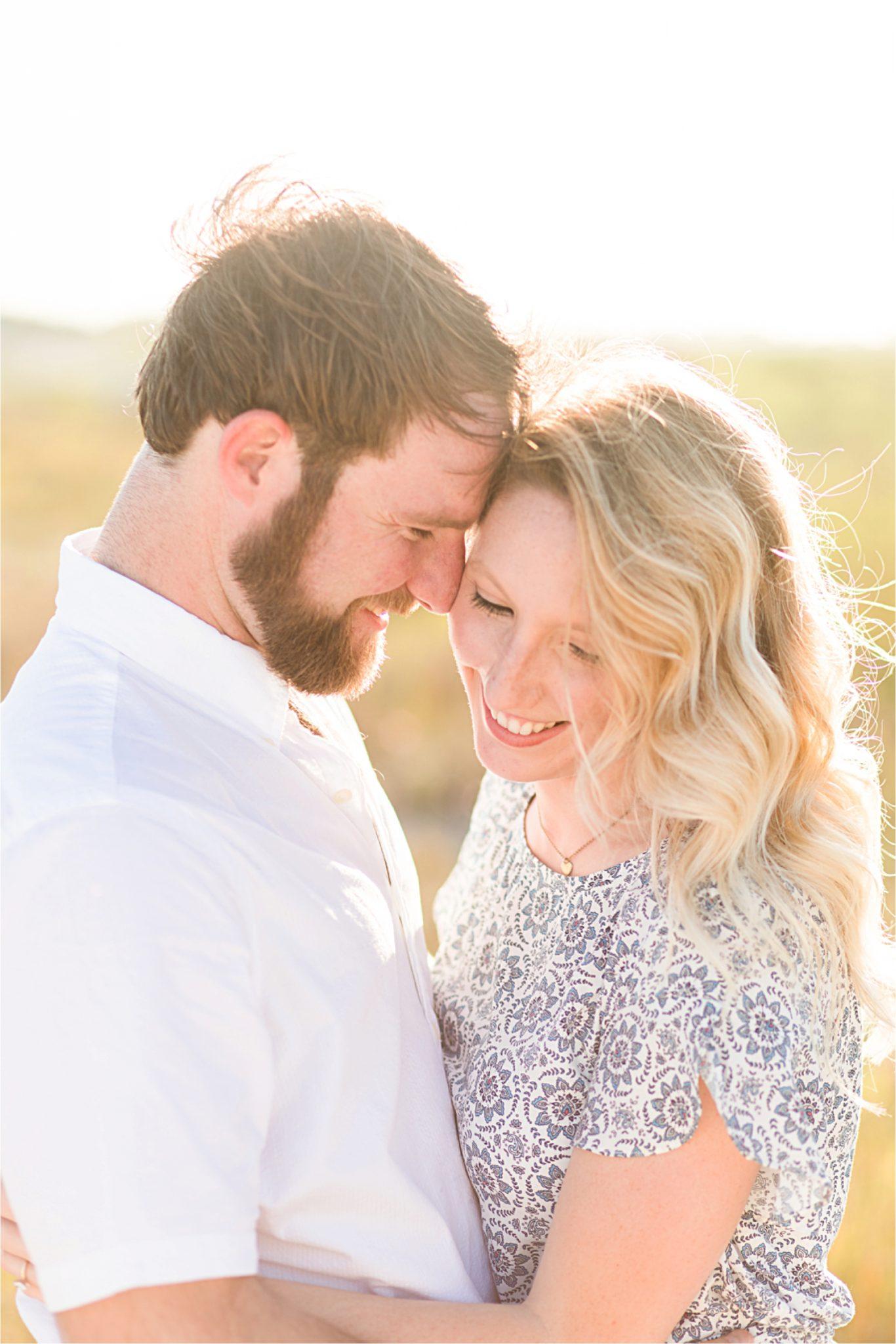 Beach engagement photos, Daulphin Island, Mobile wedding photographer, Candid couples, Romantic engagement shoot inspiration