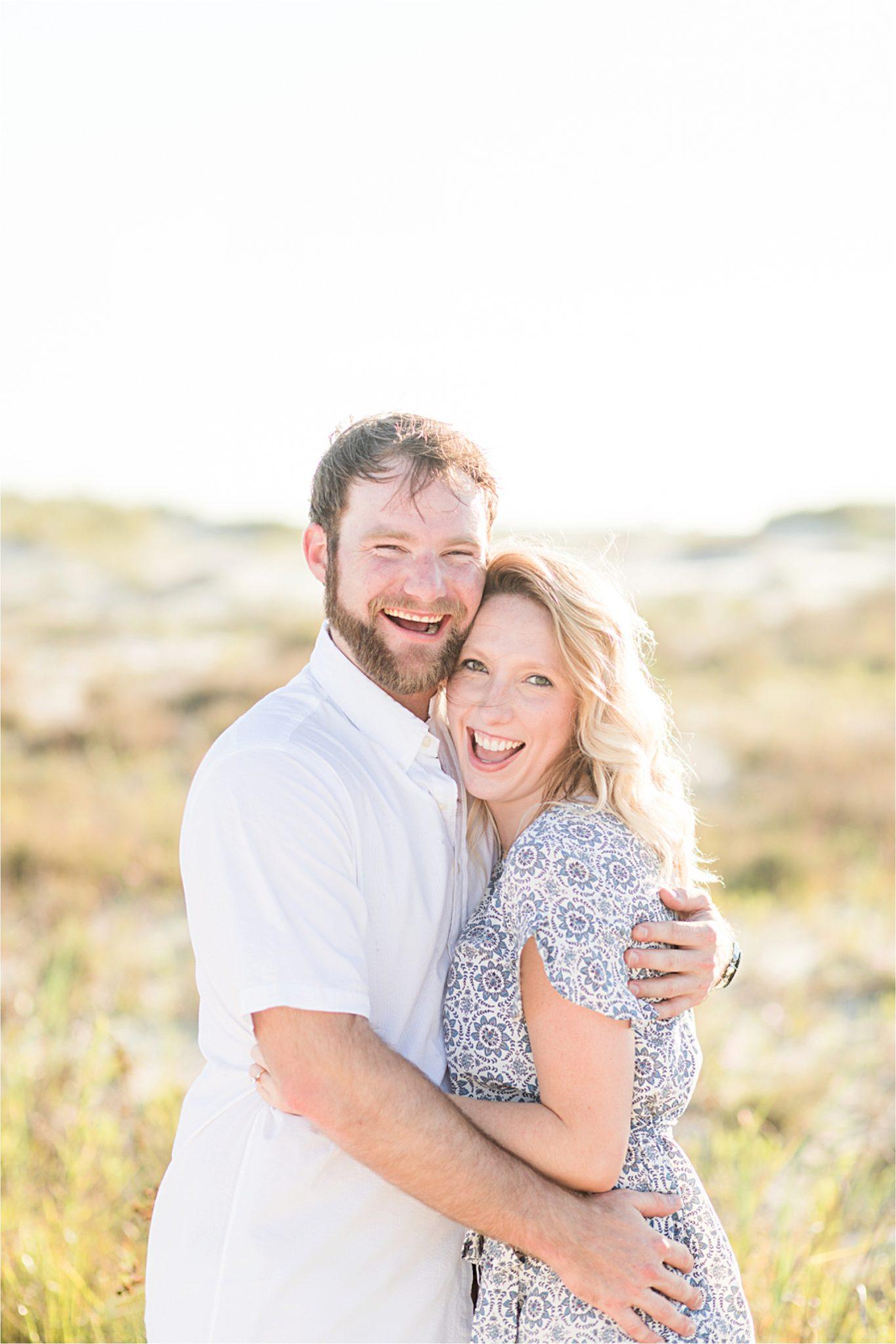 Beach engagement photos, Daulphin Island, Mobile wedding photographer, Candid couples, Romantic engagement shoot inspiration, whimsical engagement shoot