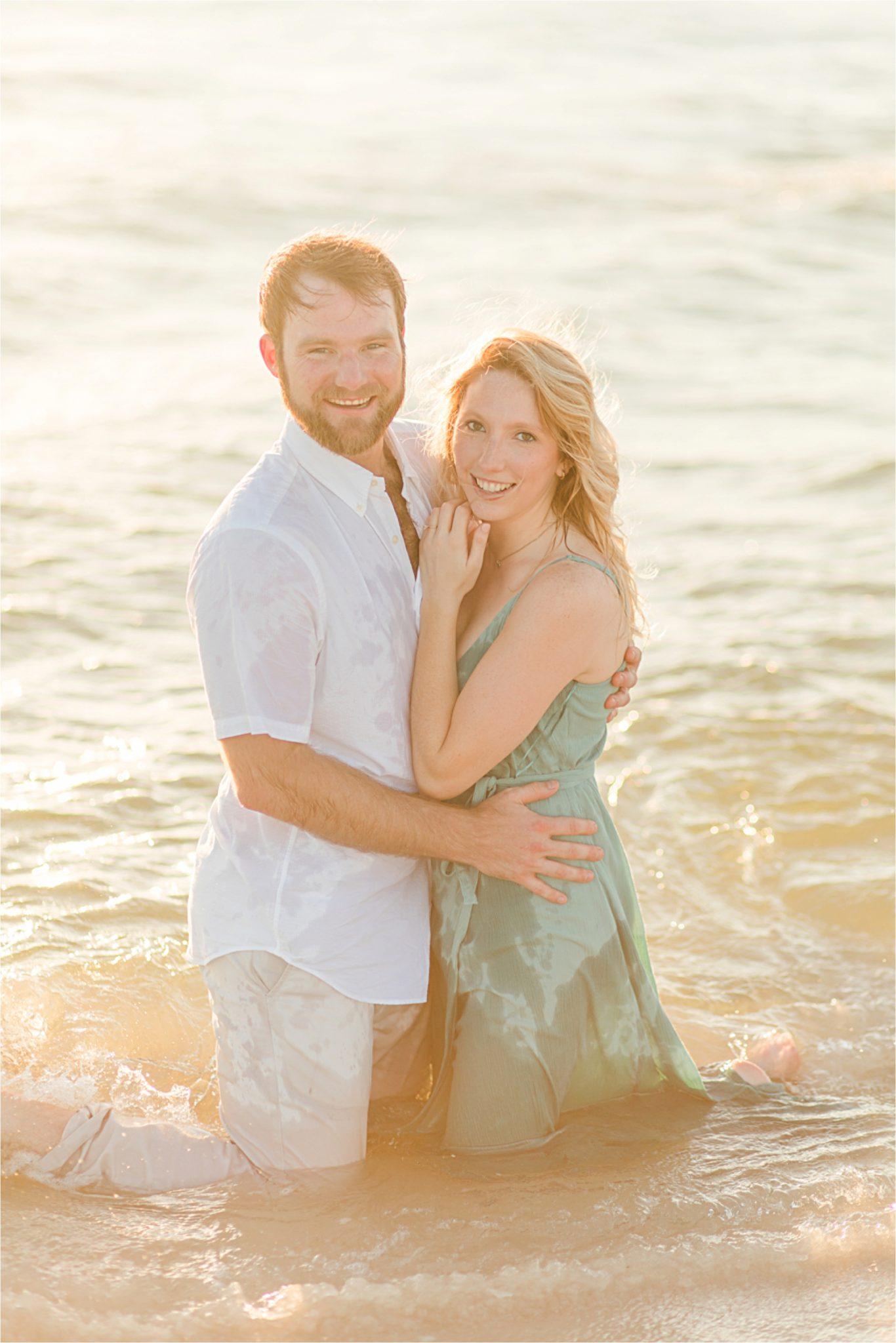 Beach engagement photos, Daulphin Island, Mobile wedding photographer, Candid couples, Romantic engagement shoot inspiration, whimsical, sunset engagement shoot
