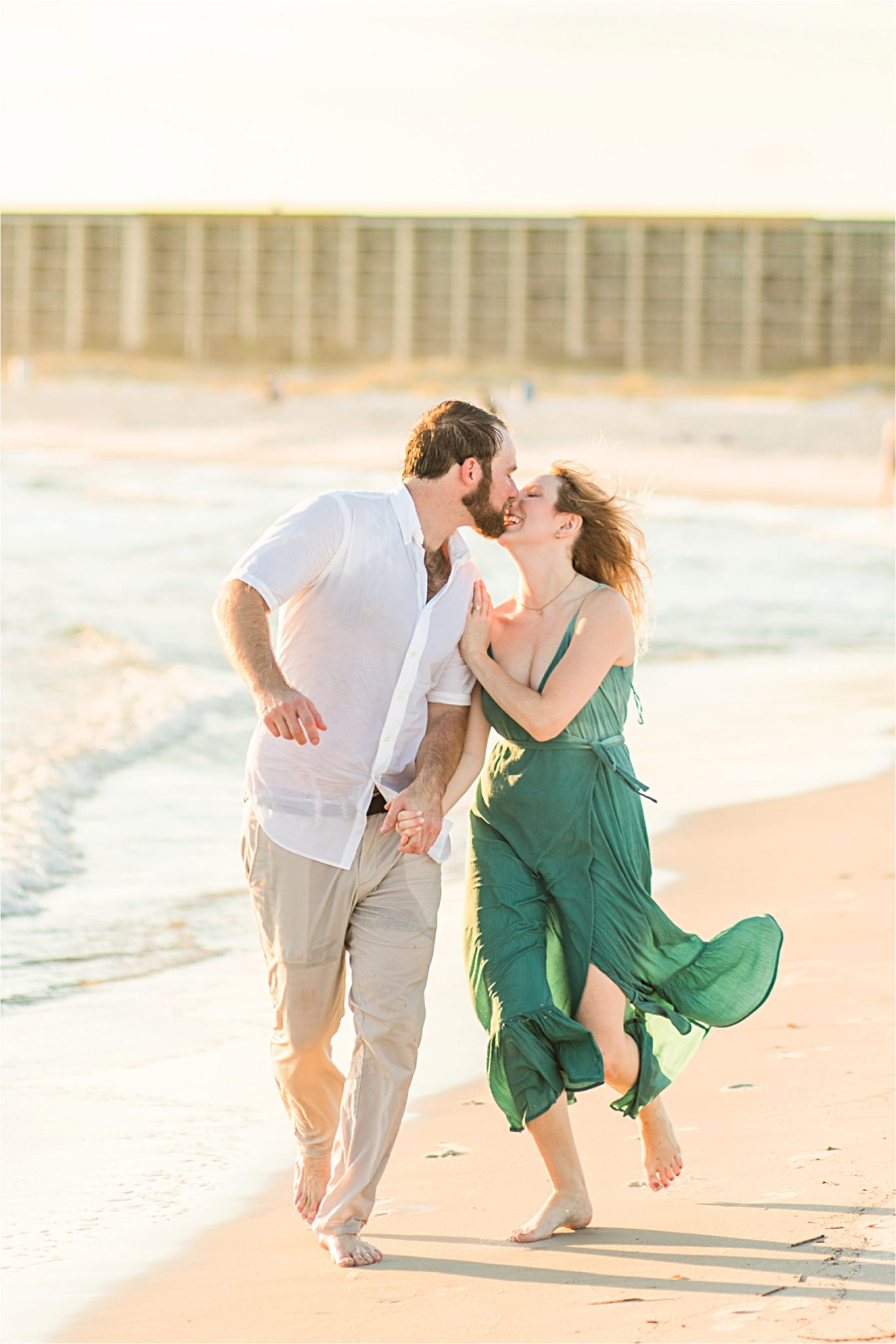 Beach engagement photos, Daulphin Island, Mobile wedding photographer, Candid couples, Romantic engagement shoot inspiration, whimsical engagement shoot
