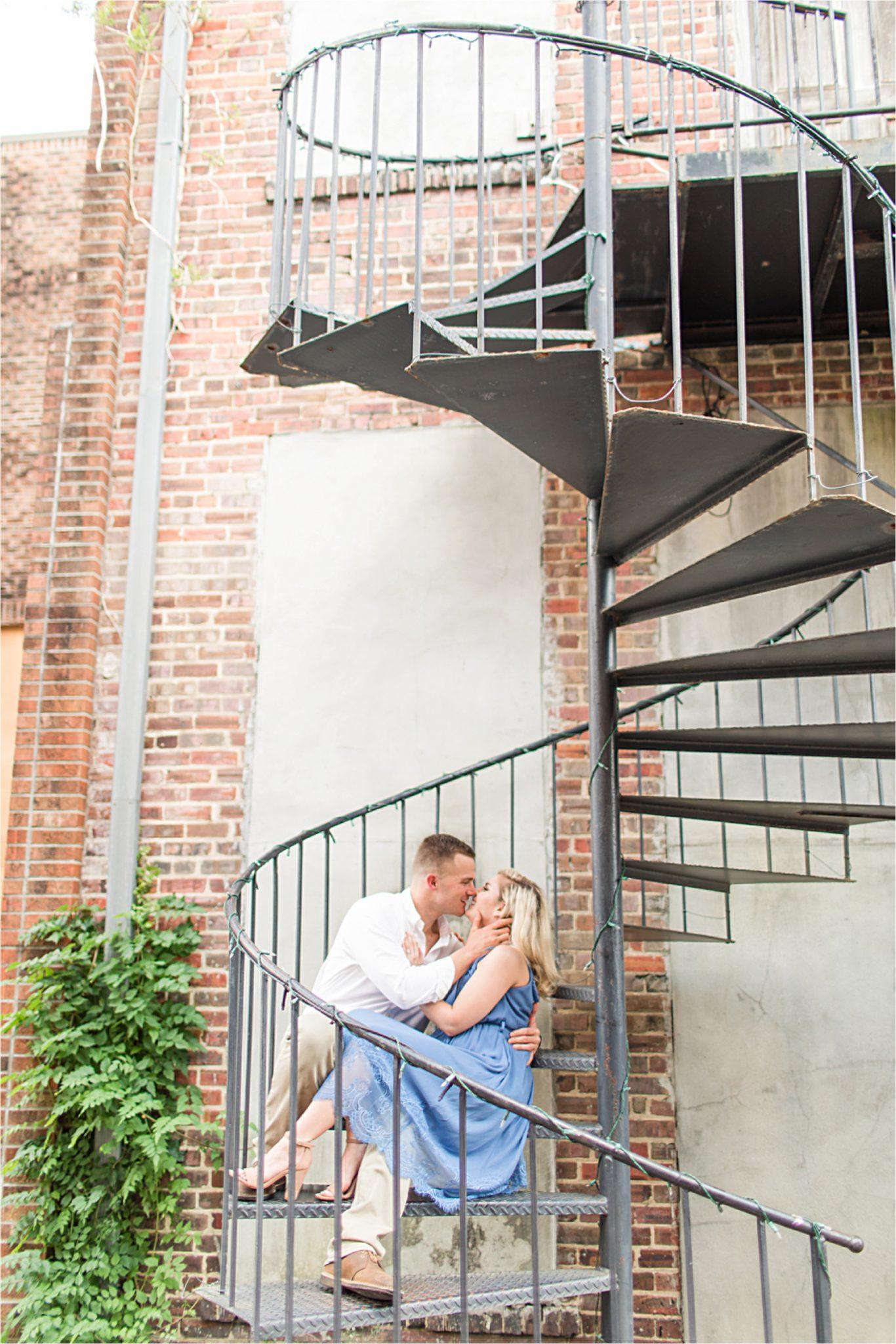 Laurel Mississippi, Brett & Sarah, Romantic Military Engagement, Mobile Alabama Photographer, Engagement Shoot Inspiration, Blue Themed Engagement