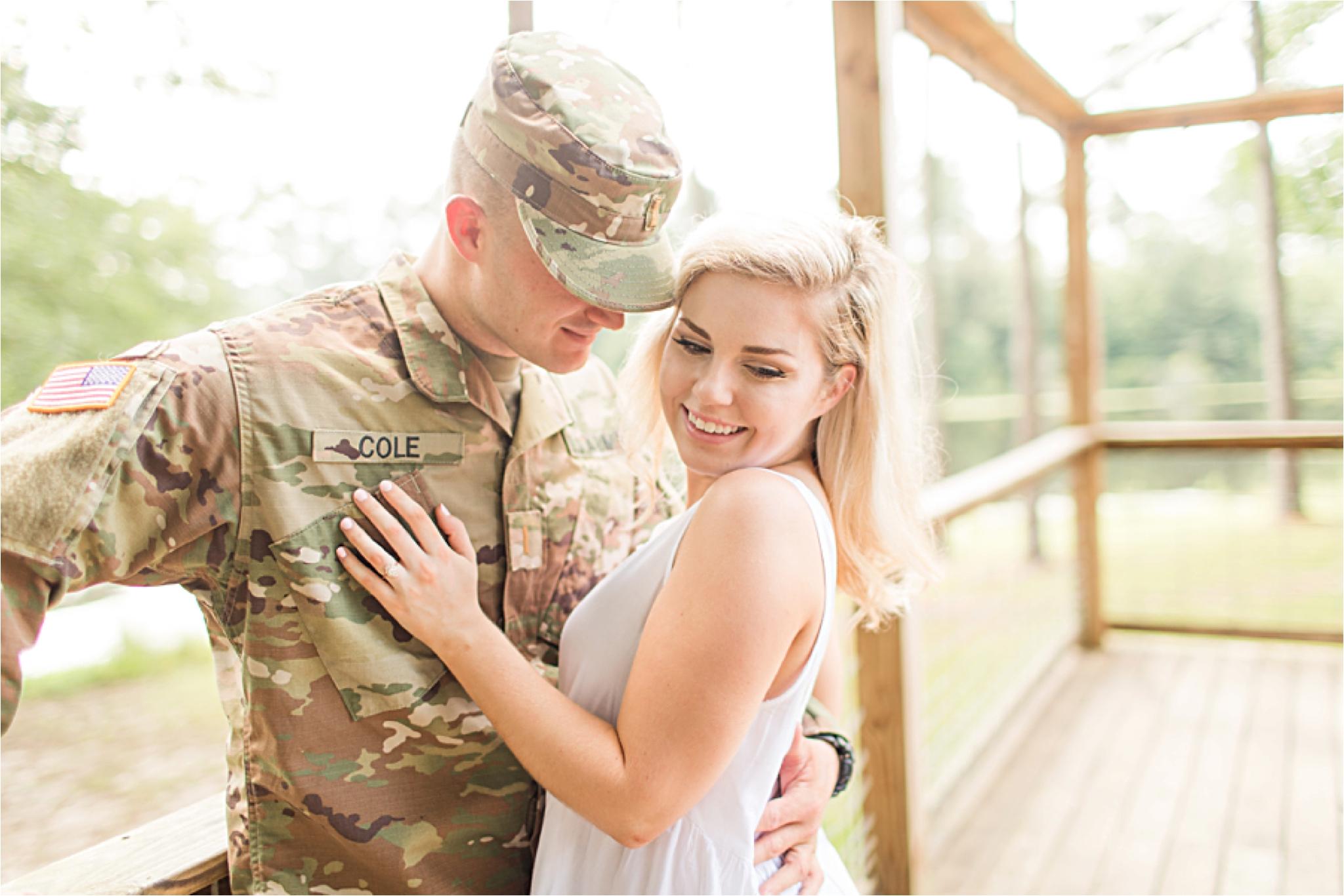 Laurel Mississippi Engagement Photographer, military inspired engagement photos