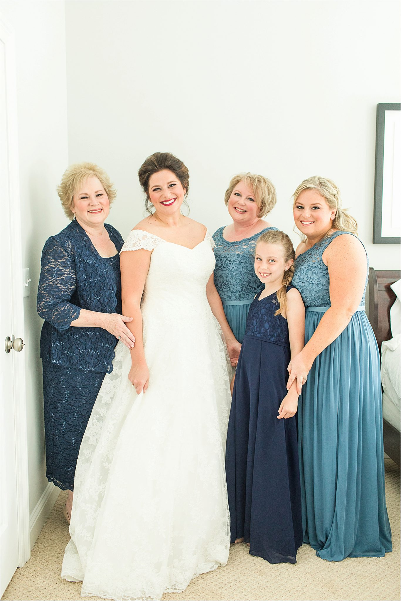 Pastel Themed Wedding-The Chapel at the Waters-Montgomery Alabama Photographer-Miles & Meredyth-Blue Themed Wedding-Bridesmaids Dresses-Wedding Dress