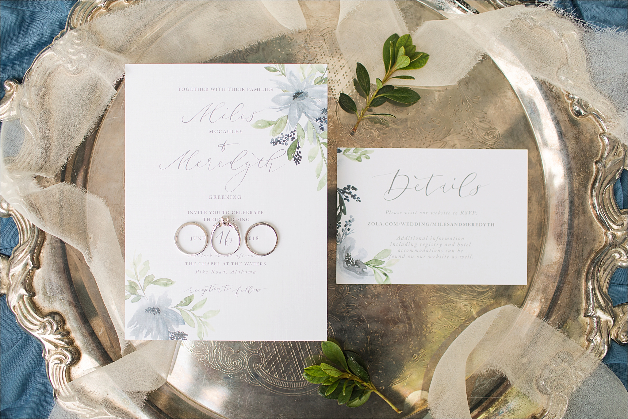 Wedding Details-Pastel Themed Wedding-The Chapel at the Waters-Montgomery Alabama Photographer-Miles & Meredyth-Pastel-Blue Wedding Theme-Alabama Bride-Wedding Rings