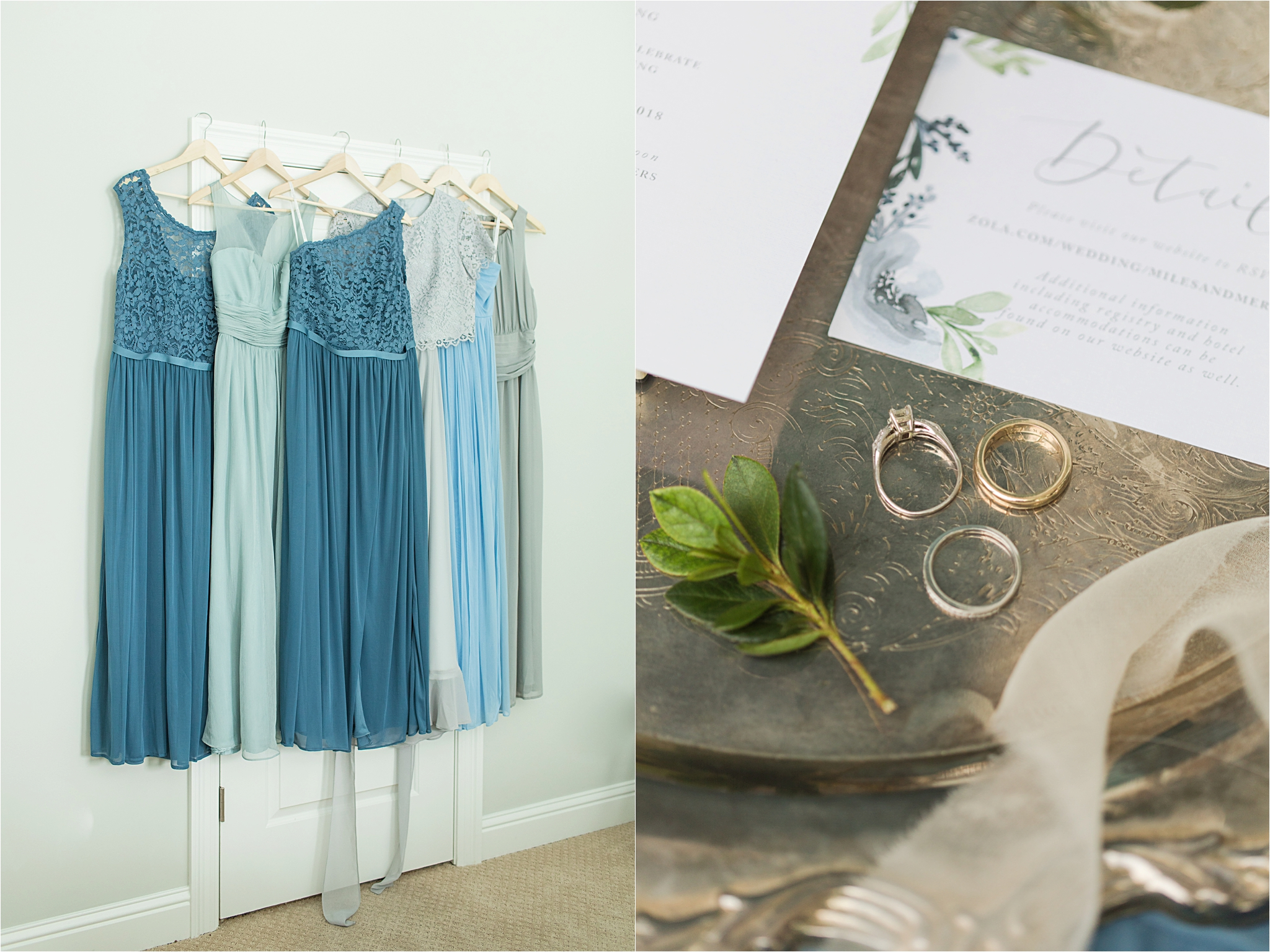 Wedding Details-Pastel Themed Wedding-The Chapel at the Waters-Montgomery Alabama Photographer-Miles & Meredyth-Blue Themed Wedding-Bridemaids Dresses-Wedding Rings