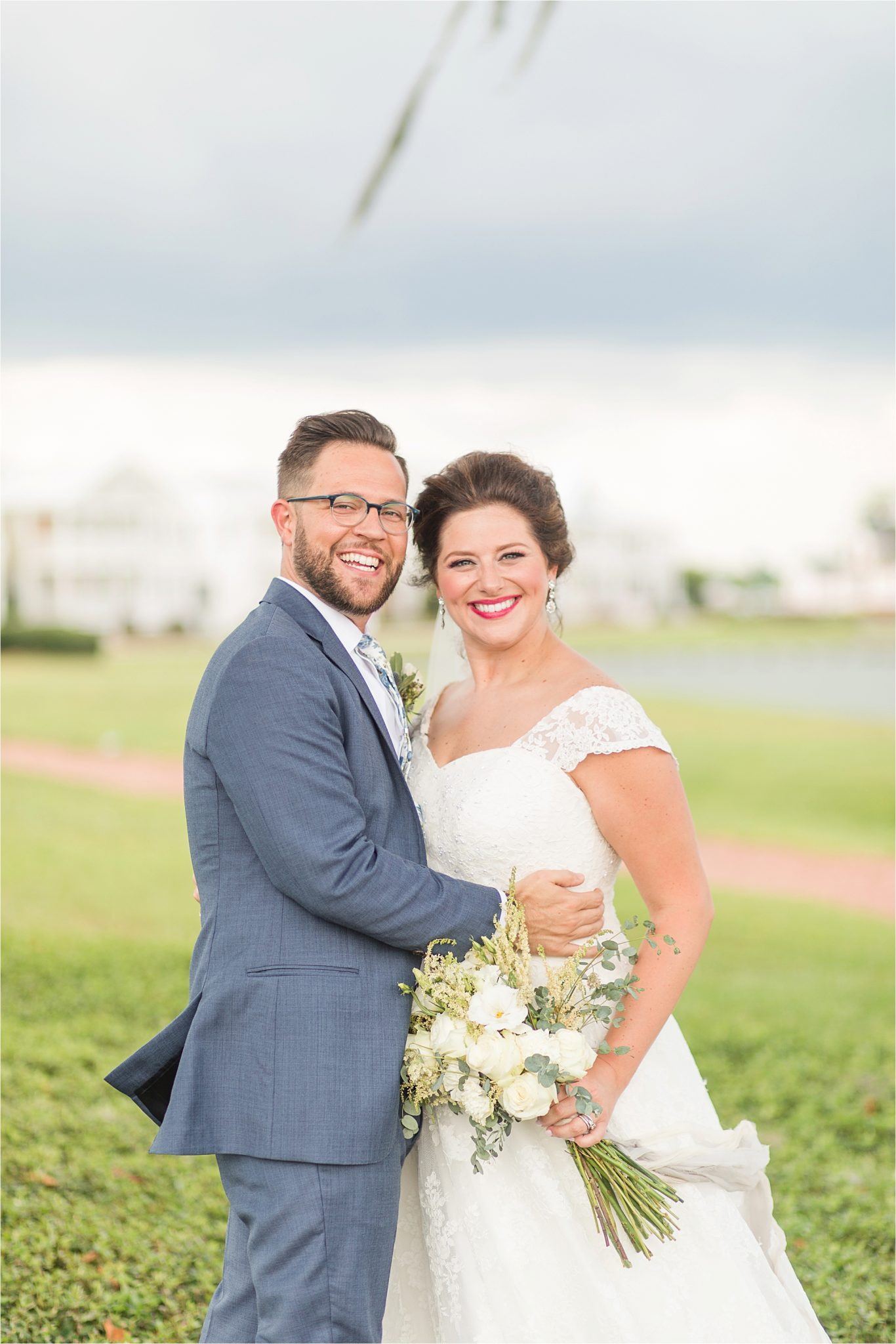 Pastel Themed Wedding-The Chapel at the Waters-Montgomery Alabama Photographer-Miles & Meredyth-Blue Themed Wedding-Bride Bouquet-Wedding Dress-Groom-Bride