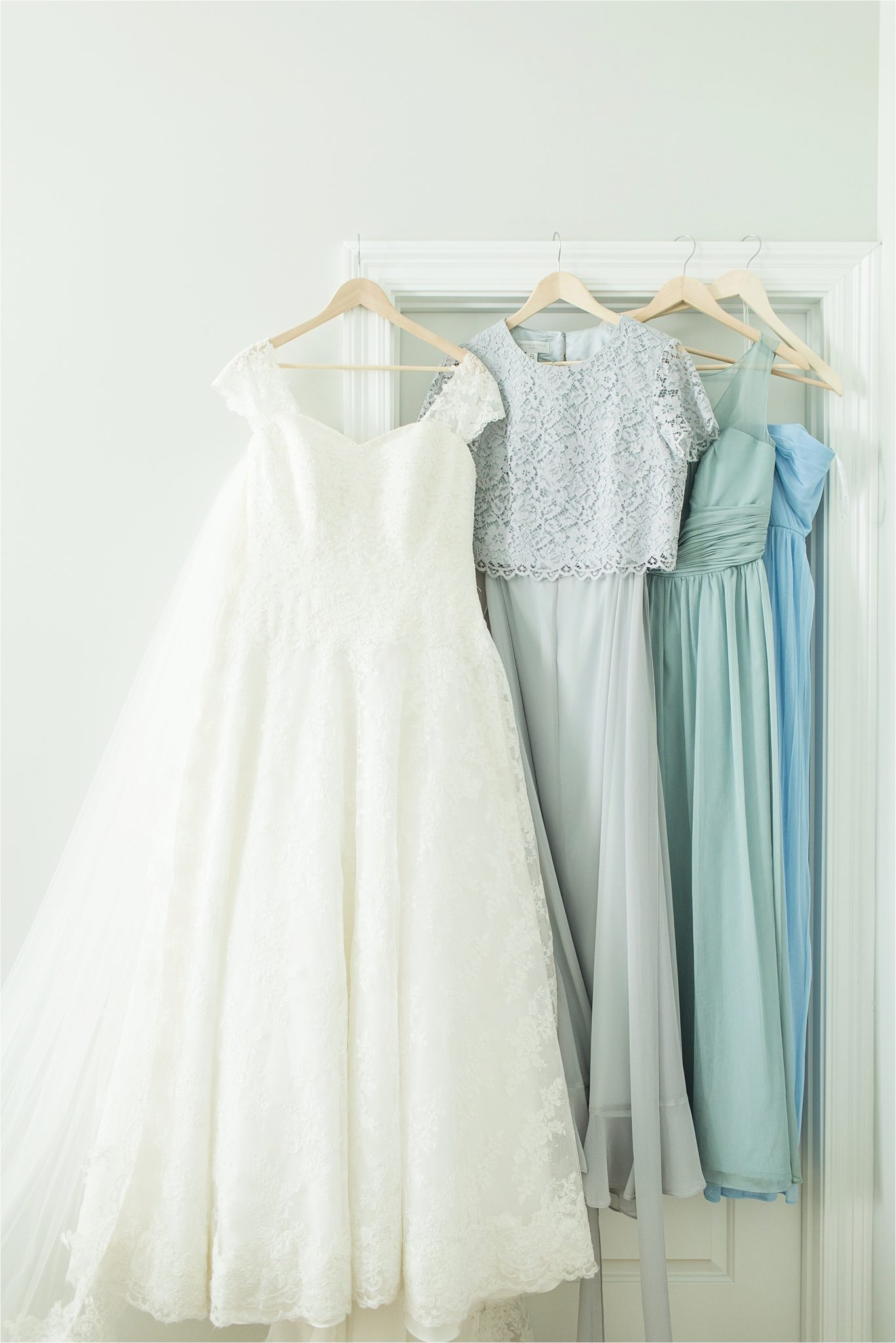 Wedding Dress-Bridesmaids Dress-Pastel Themed Wedding-The Chapel at the Waters-Montgomery Alabama Photographer-Miles & Meredyth-Pastel-Blue Wedding Theme