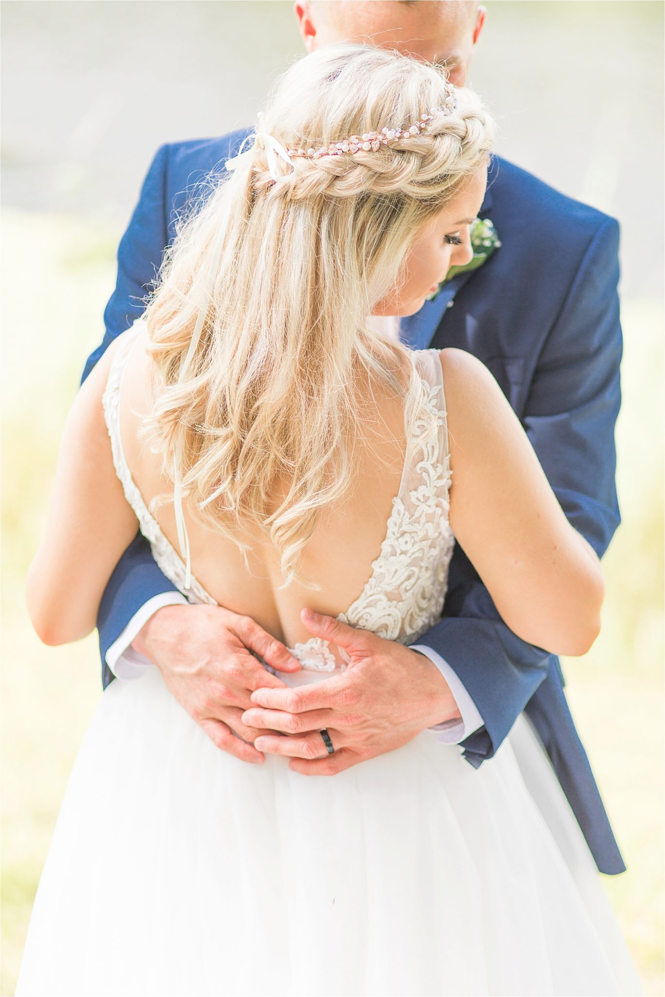 bridal-groom-portraits-photos-blue-suit-bow-tie-first-look-ideas-braided-hair