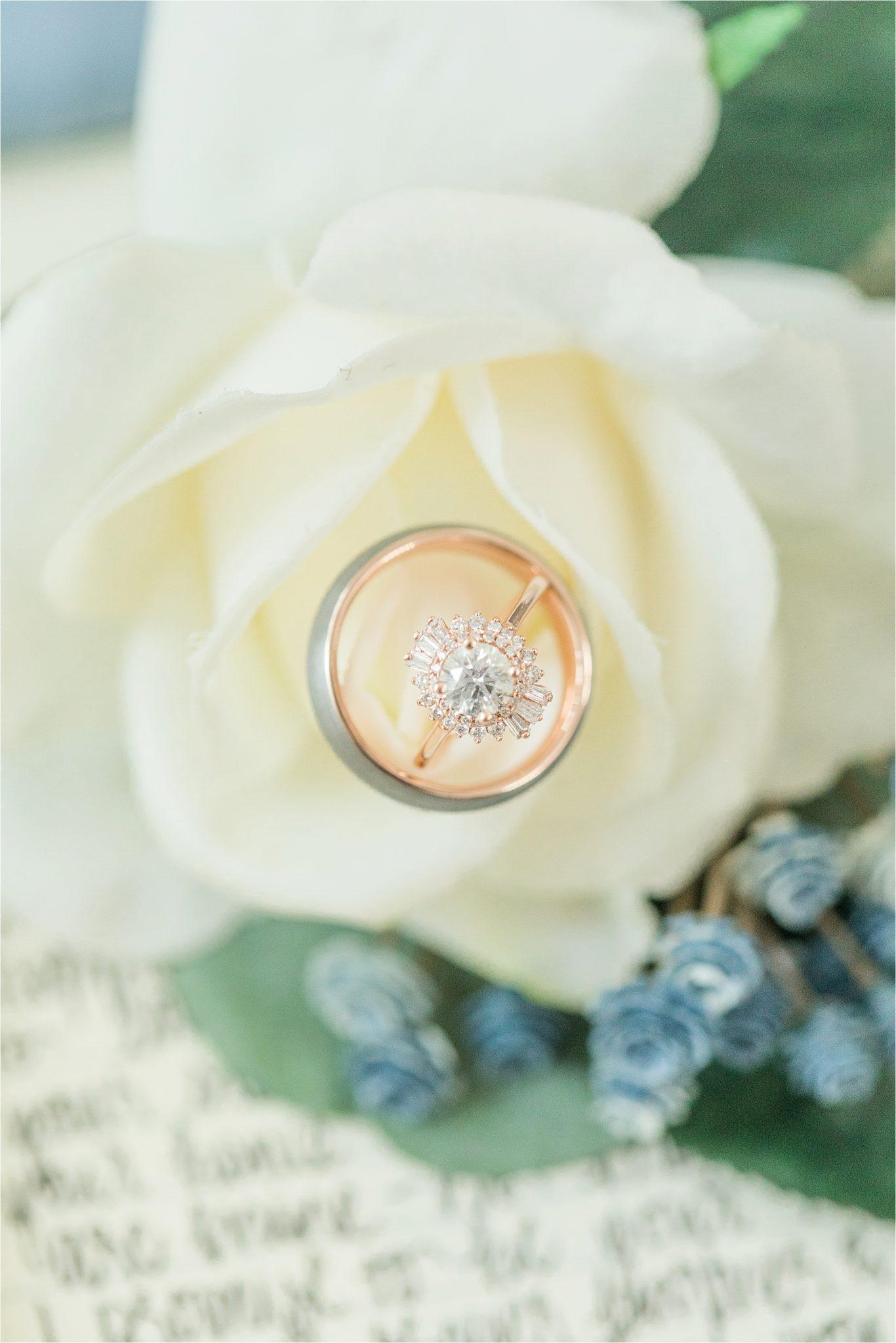 unique-engagement-ring-wedding-band-rose-gold-halo