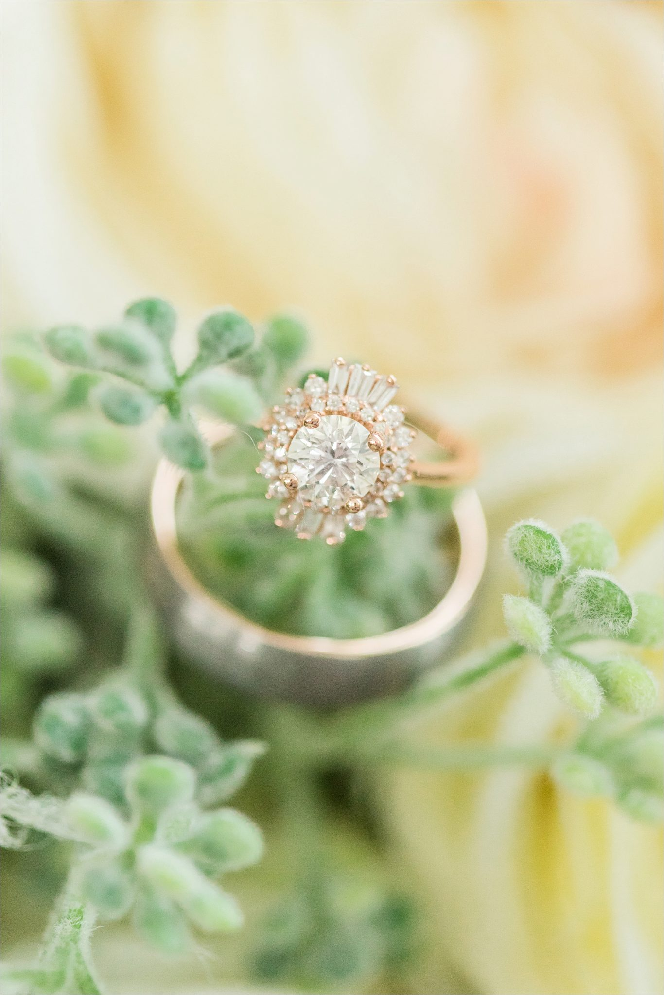 unique-engagement-ring-wedding-band-rose-gold-halo-ornate-oval-thin