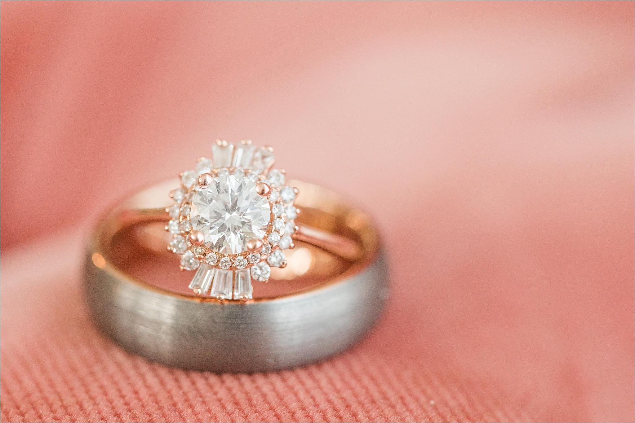 unique-engagement-ring-wedding-band-rose-gold-halo-ornate-oval