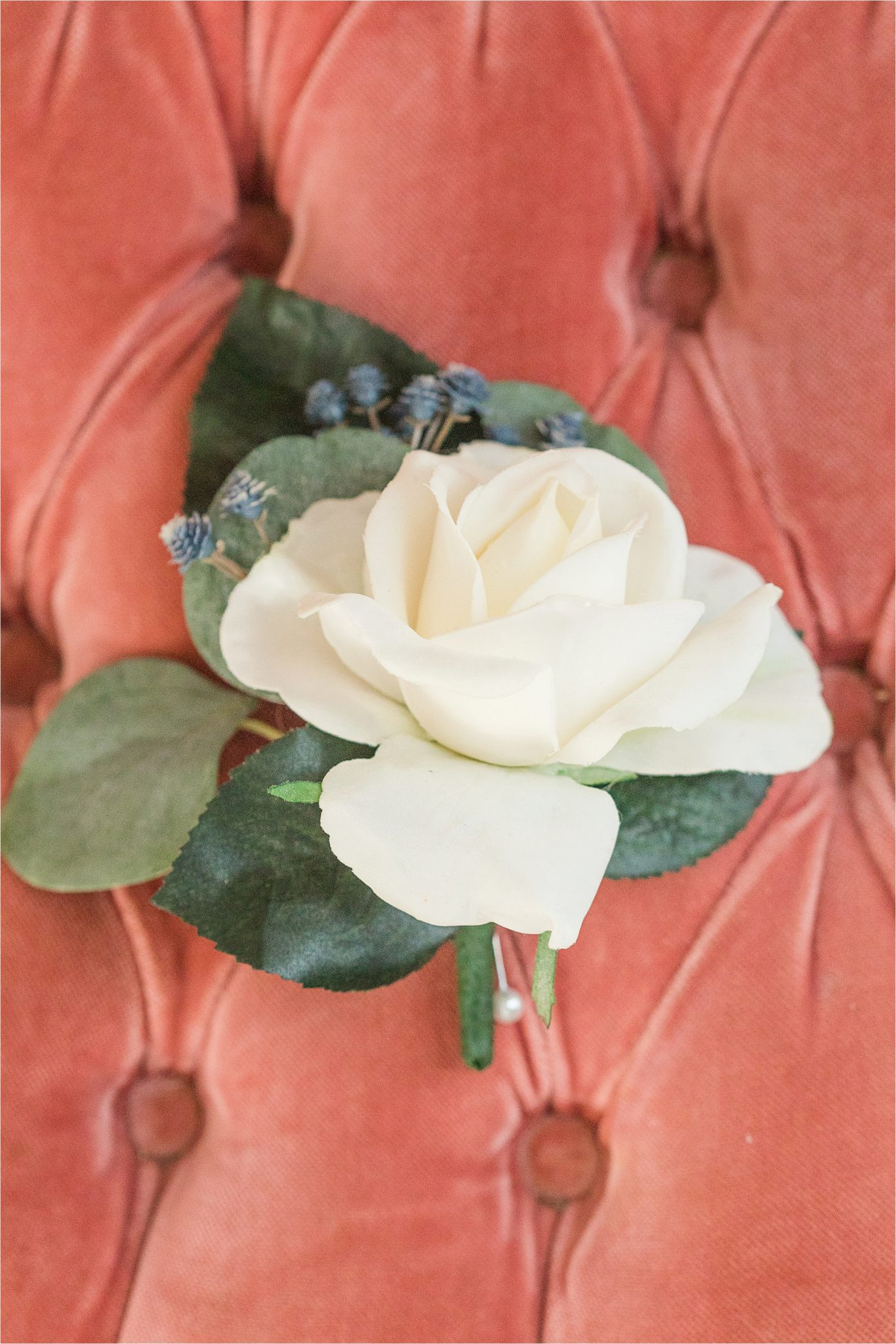 realistic-arificial-flowers-white-rose-corsage-wedding-periwinkle-raspberry-terra cotta