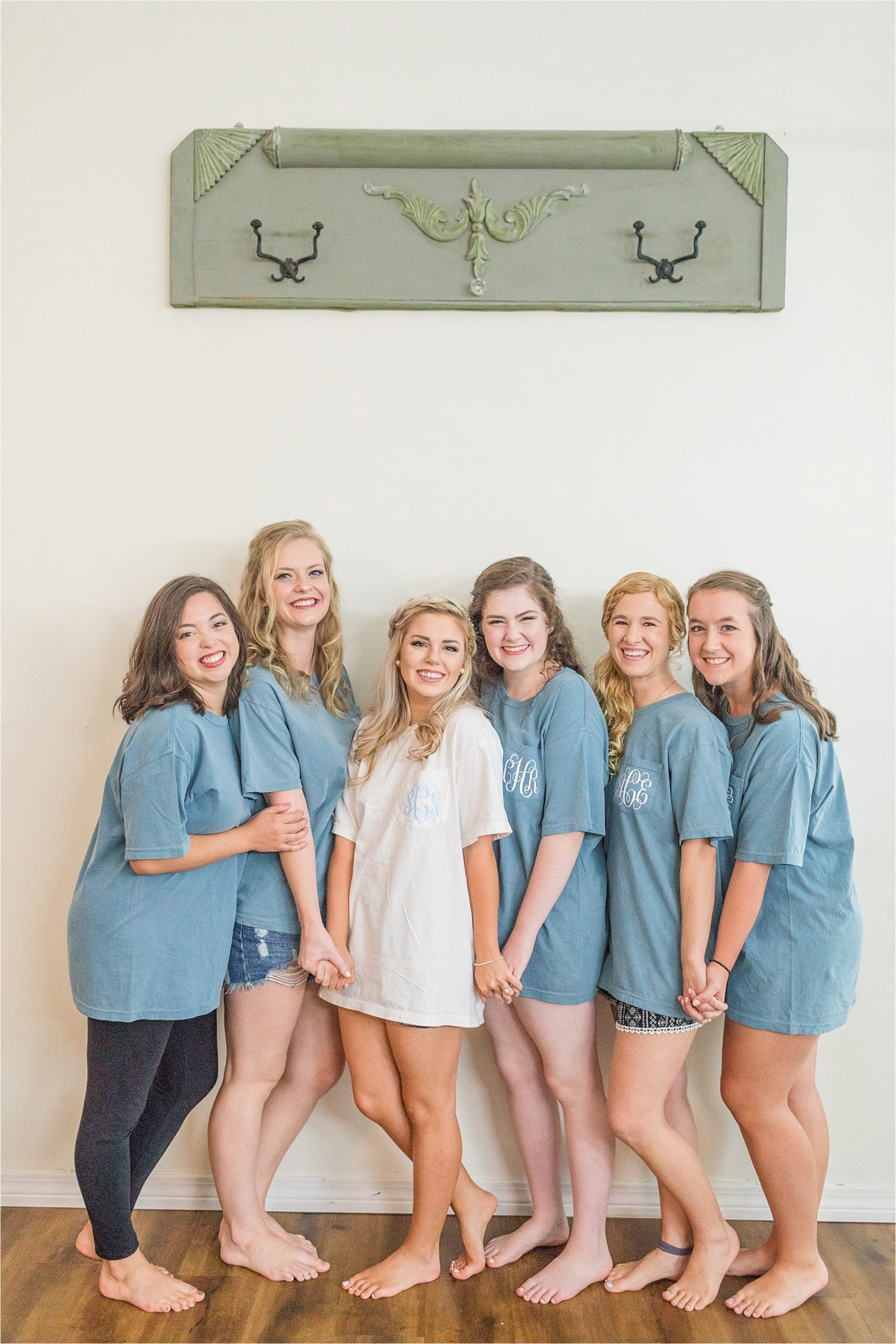 monogrammed-bridesmaid-tshirts-bridal-dusty-blue-light-periwinkle-comfy-color